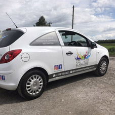 Photo of vehicle with graphics