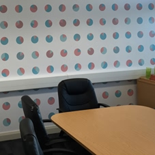 Photo of wall graphics